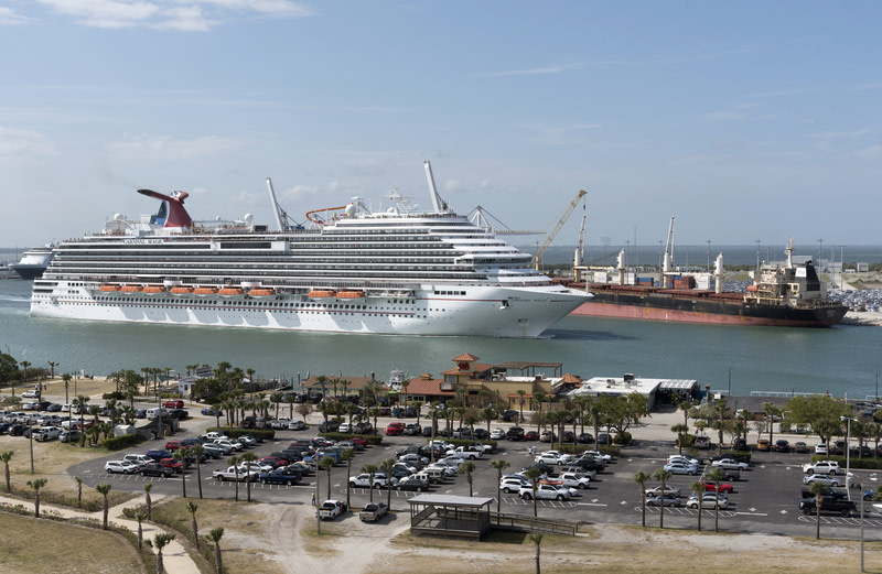 Cruise ship departing Port Canaveral Florida, USA