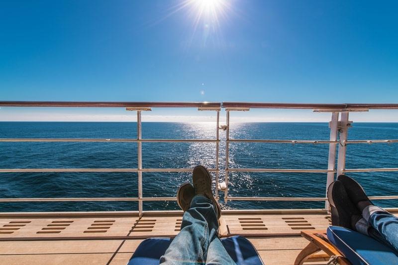 Cruise Ship Deckchairs Relax in the Sun
