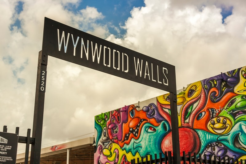 Art murals at Wynwood creative and arts district in Miami