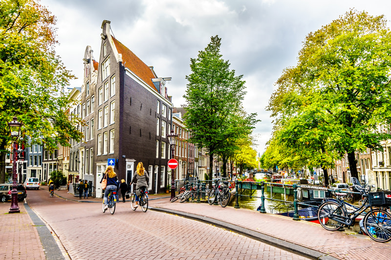 Take a long bike ride in Amsterdam