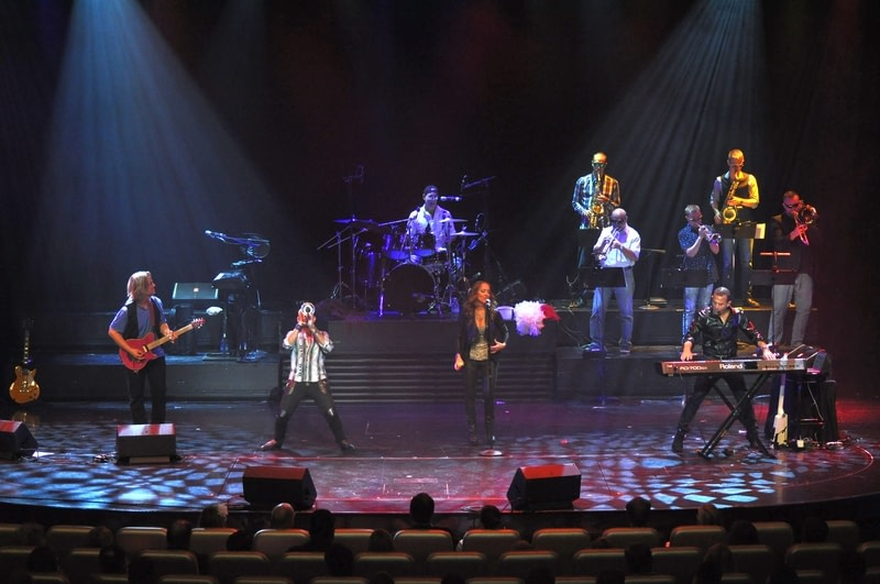 Band performing guest entertainer show on board cruise ship.