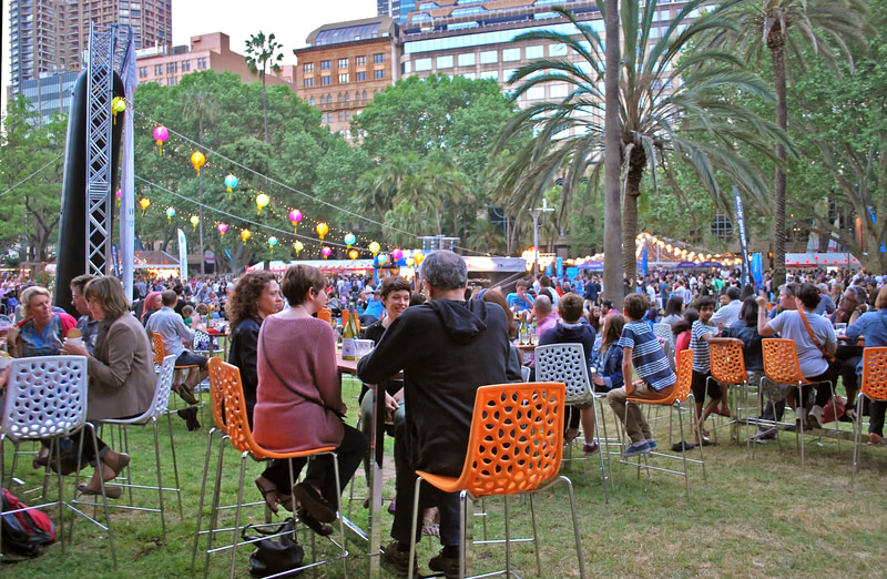 Enjoy dining at Night Noodle Markets