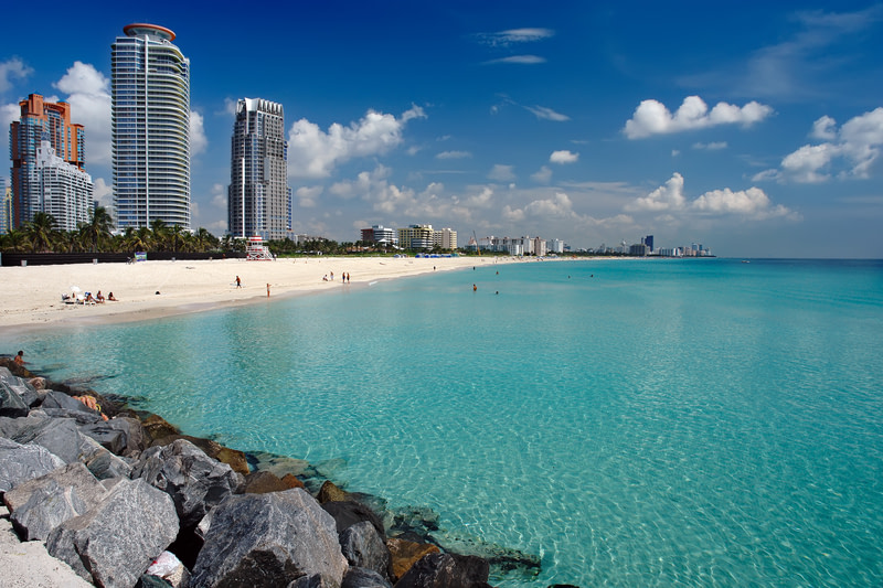 Enjoy the water in South Beach Miami