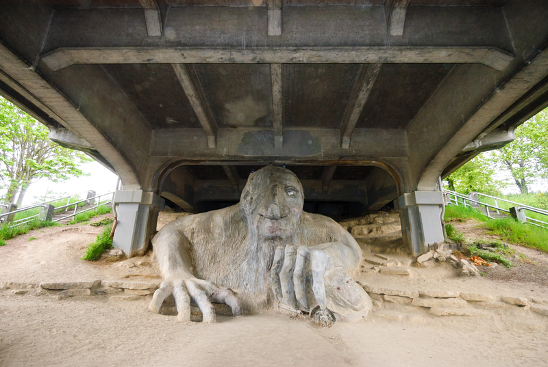 Pay a visit to the Fremont Troll