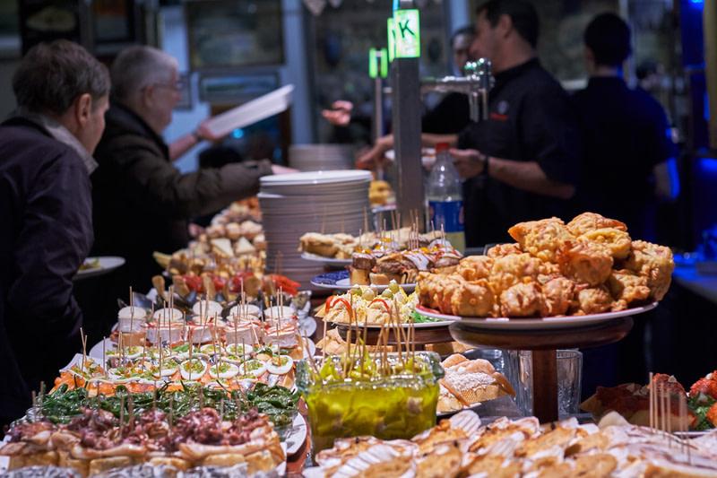 Try Pinchos in Blai Street, Barcelona