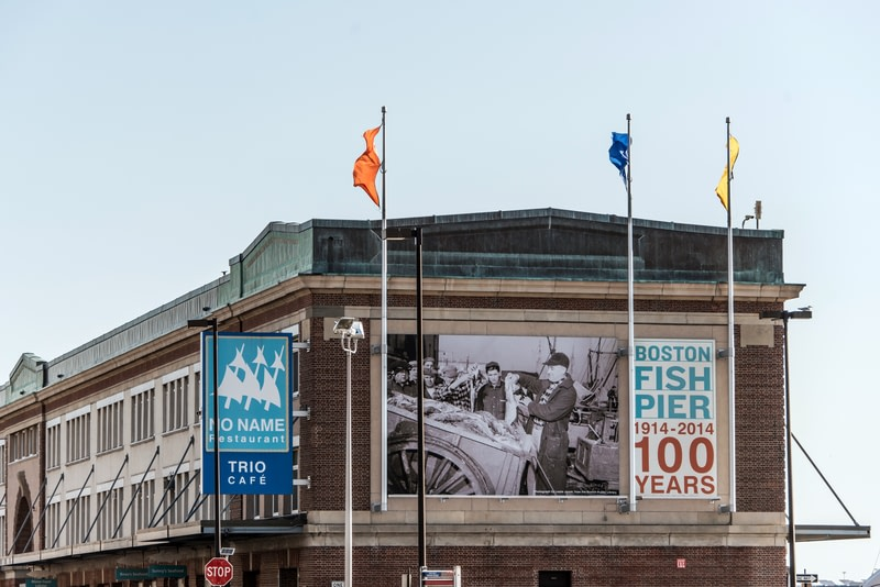 100 years anni fish pier market place in Boston.