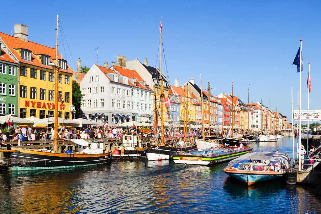 Beautiful colorful houses in Copenhagen