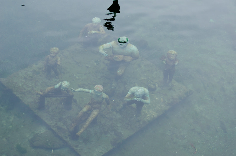 Underwater sculpture in Copenhagen