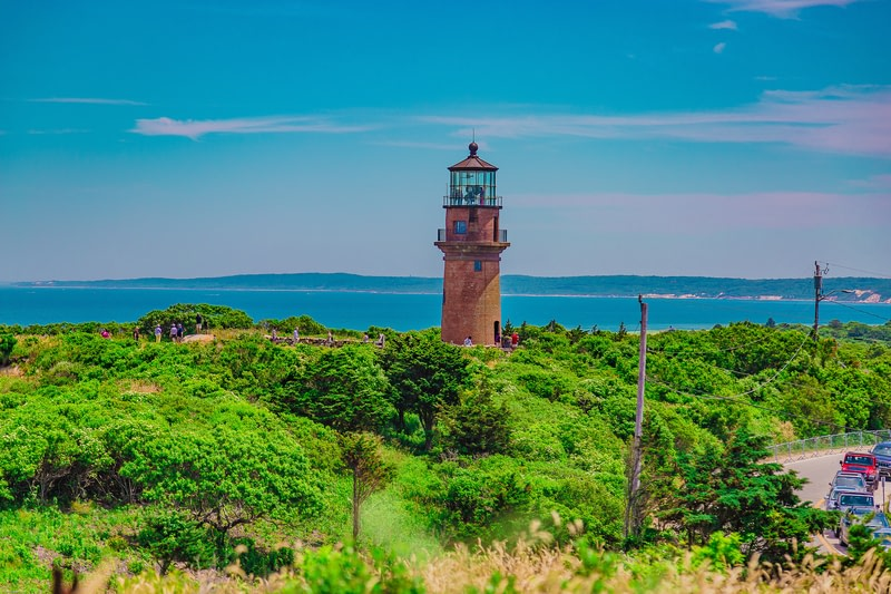 Lighthouse in Gay head in Martha`s Vineyard.