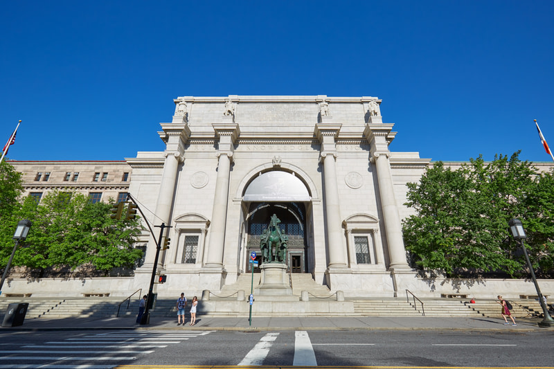 American Museum of Natural History building facade in New York