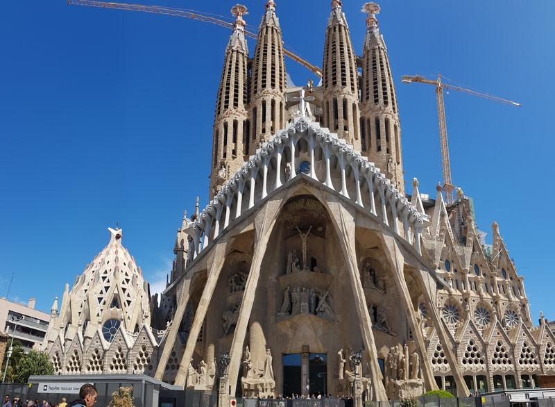 View of amazing unique Sagrada Familia, Barcelona