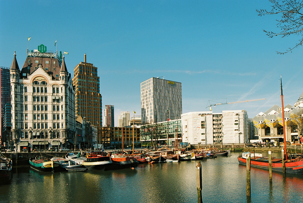 View of Oudehaven Harbor Rotterdam