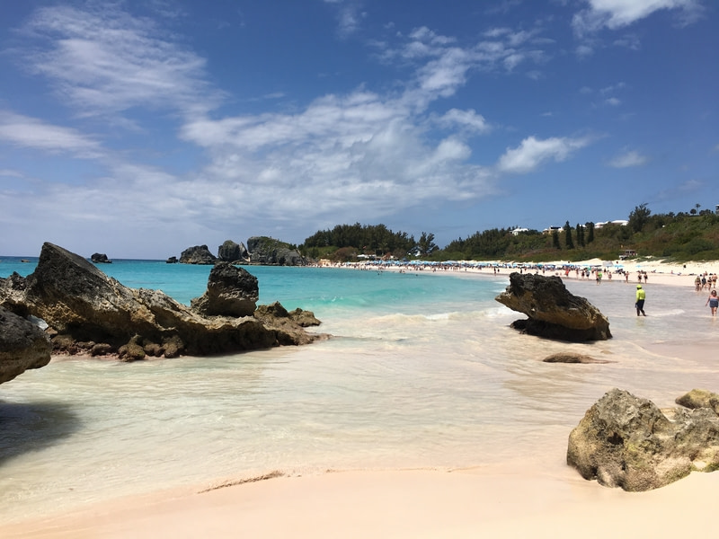 Clear water and beautiful shores of Horseshoe Bay in Bermuda are no exception.